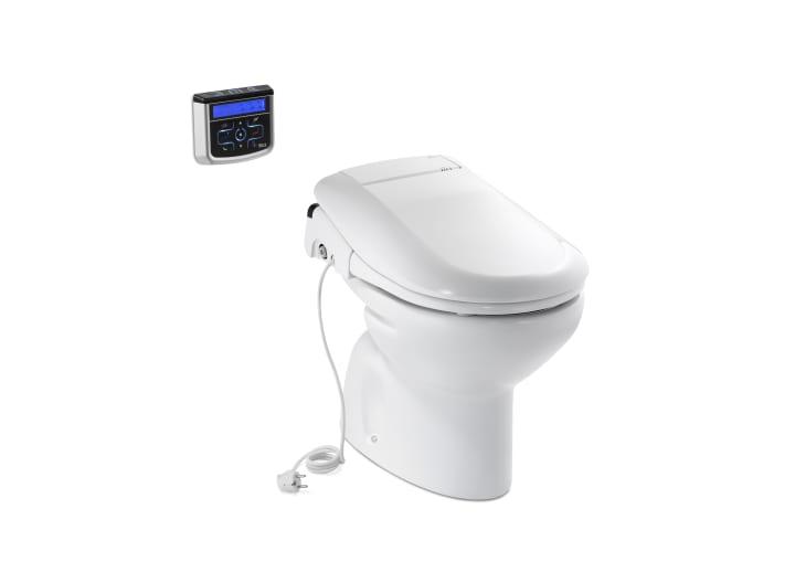 Sanita com sa da ao ch o sanitas de tanque alto ou de for Fluxometro roca