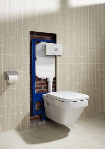 Estrutura de encastrar para sanita suspensa com flux metro for Fluxometro roca