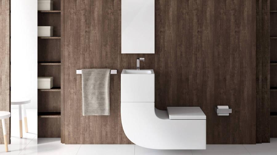 Lavatório e sanita numa mesma peça W+W da Roca