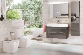 Coleção Inspira com lavatórios, sanitas, bidés e móveis, da Roca