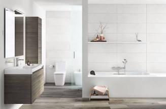 Uma casa de banho de conforto com produtos da Roca