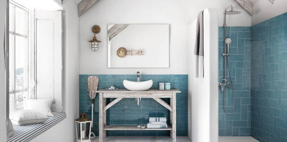 Casa de banho com cor da Roca