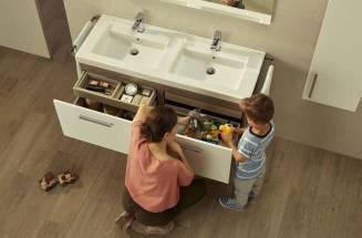Prisma high-capacity bathroom furniture unit