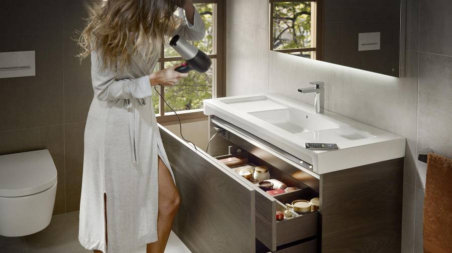 Stratum-N high-capacity bathroom furniture unit