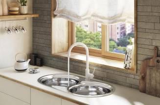 Torneiras de cozinha Roca: Design, cor e funcionalidade