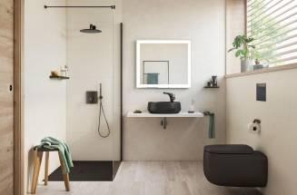 Roca - Acessórios em preto para espaços de banho